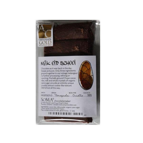 ruwe old school soma chocolade bijzonder ruwe chocolade melk venezuela chuao