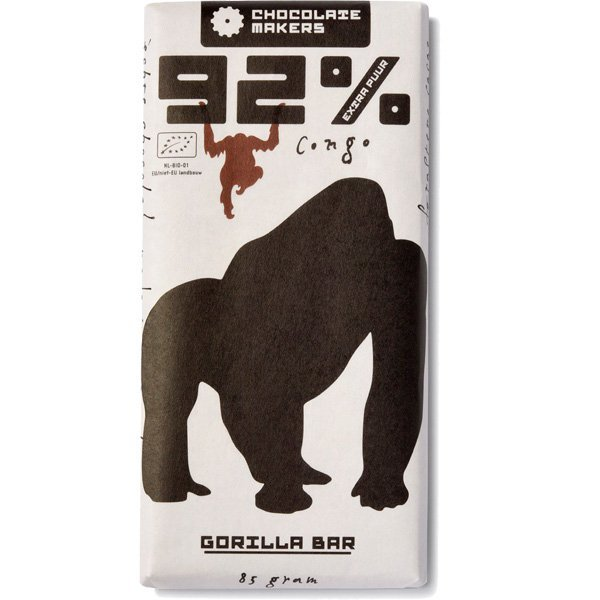 chocolatemakers gorilla bar extra puur 92%