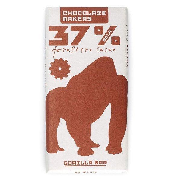 biologische chocolade van chocolatemakers uit amsterdam bean to bar gorilla bar melkchocolade