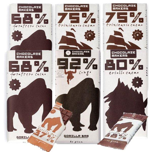 pure chocolectie kennismakingspakket chocolatemakers collectie pure chocoladerepen
