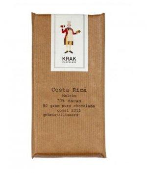 costa rica maleku 70% 80 gram chocoladereep krak origine chocolademaker uit nederland bean to bar
