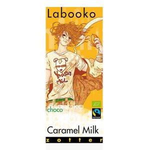 caramel melkchocolade van zotter biologisch fairtrade