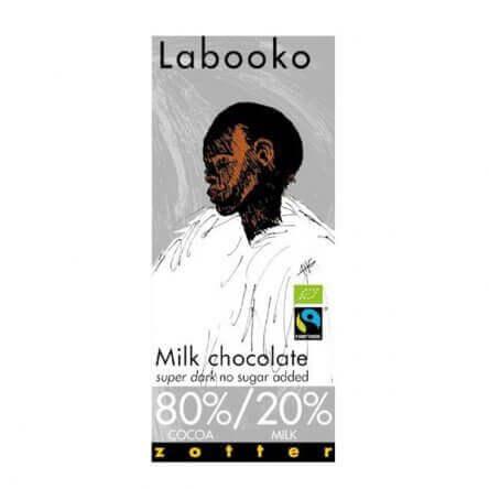 Zotter Super Dark 80% – Suikervrije melkchocolade
