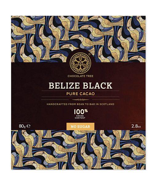 belize 100% black van chocolate tree origine chocolade zonder suiker enkel maar cacao