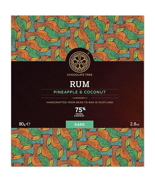 chocolate tree rum kokos ananas chocolade