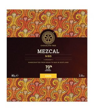 pure mexico chocolade met nibs gedrenkt in mezcal