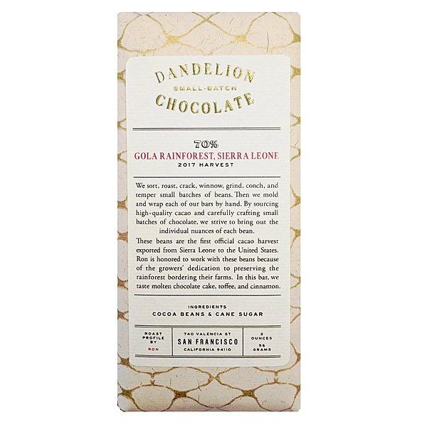 Dandelion Sierra Leone primeur kwaliteits cacao uit Afrika uniek