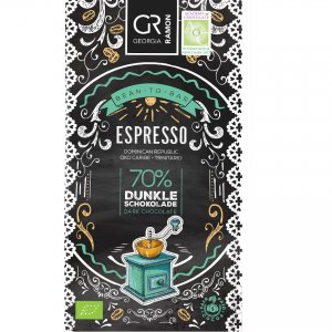 georgia ramon espresso robusta arabica chocolade koffie mix chocoladereep