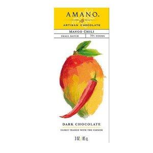 amano artisan chocolade met mango en pittige peper