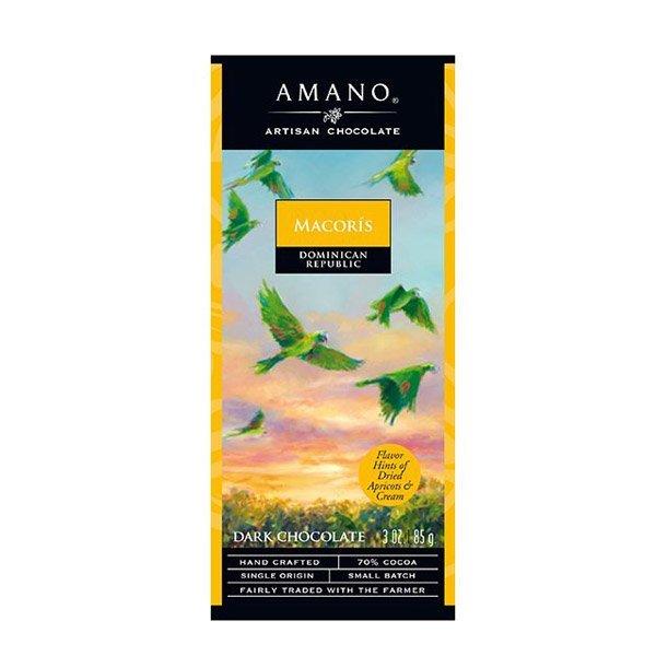 amano macoris dominicaanse republiek single origin hand crafted small batch fairly traded chocolade puur van amano