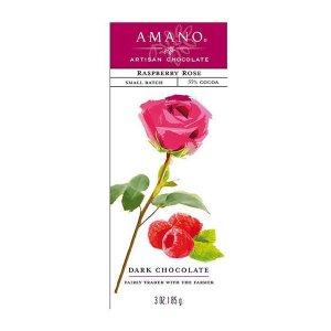 frambozen chocolade met rozenblaadjes amano puur combinatie fris floraal