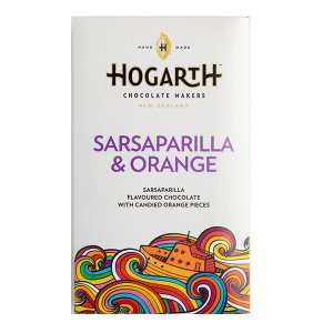 hogarth chocolade met sinaasappel gekarameliseerd sarsaparilla root beer zoethout gember
