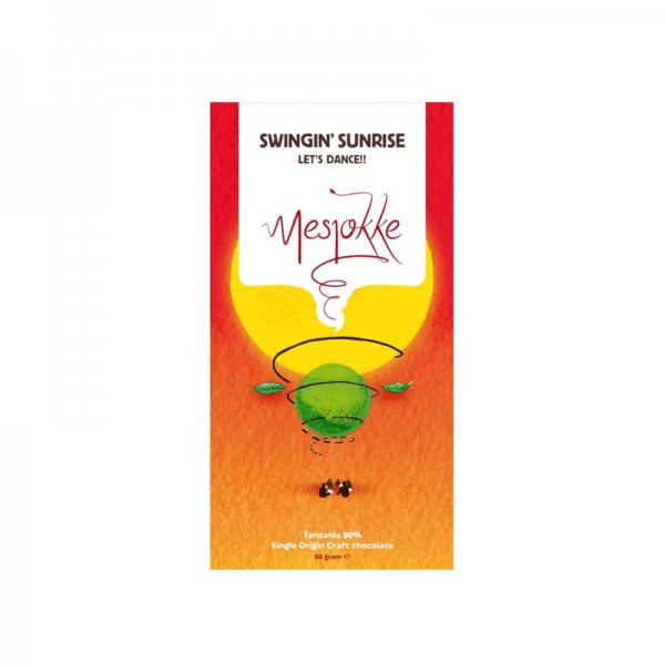 mesjokke swingin sunrise tanzania chocolate bar dutch made in utrecht bean to bar craft