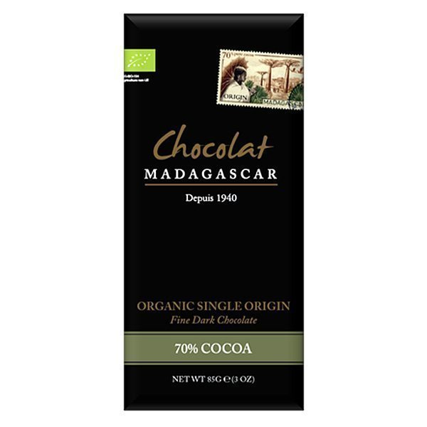 chocolat madagascar 70% organic fair made in africa sustaiblable fairest
