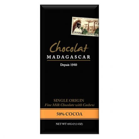 Chocolat Madagascar Melk met Cashewnoten