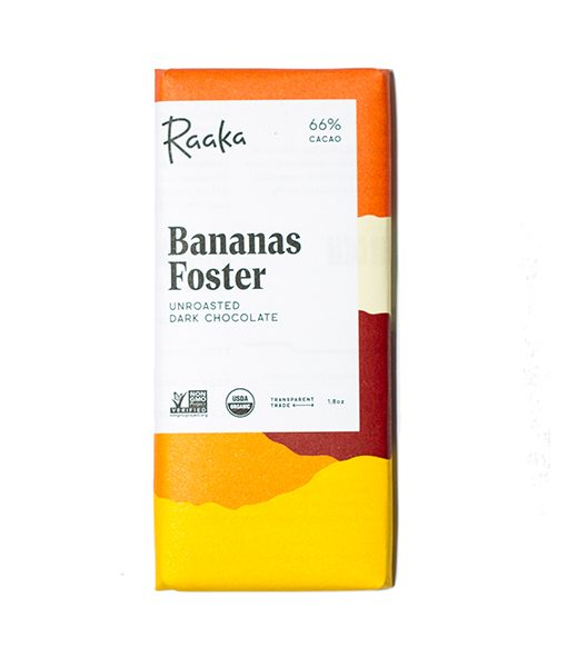 raaka chocolate banana organic unroasted nyc craft chocolate bean to bar direct trade transparent trade