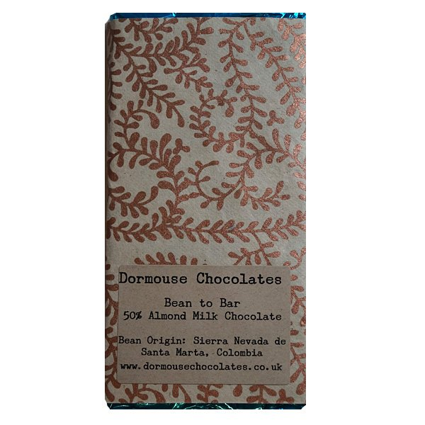 dormouse vegan milk chocolate with almond milk and cocoa from colombia