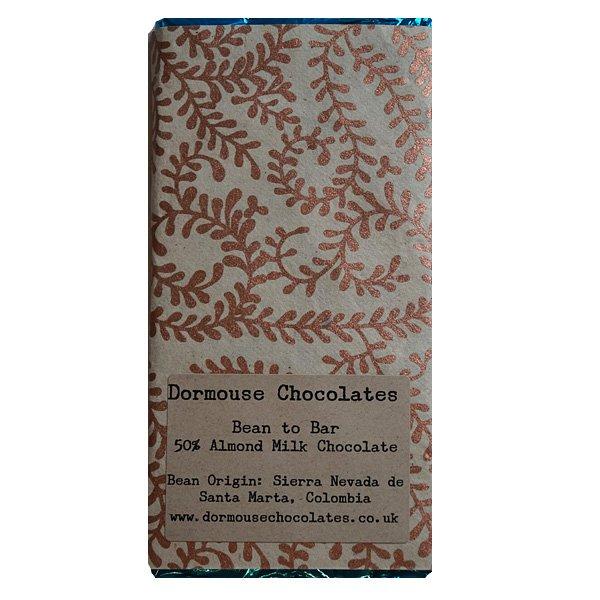dormouse vegan melkchocolade met amandelmelk en cacao uit colombia