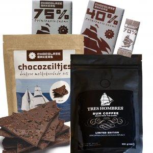 tres hombres pakket chocolade en koffie heerlijk duurzaam eerlijk fair