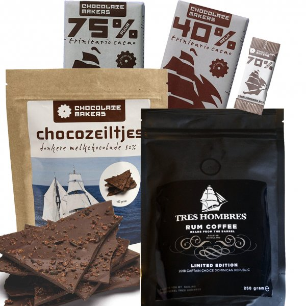 tres hombres package chocolate and coffee delicious sustainable fair fair