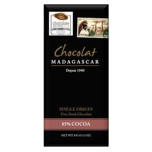 chocolat madagascar 85% donkere cacao chocolade gebrand donker en fruitig