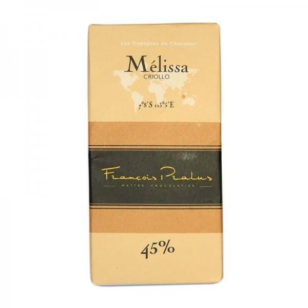 pralus melissa milk chocolate a chocolate bar very soft and rich in taste