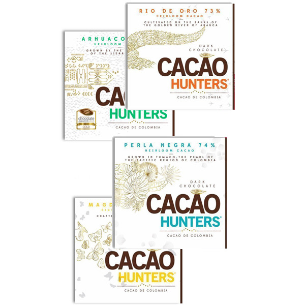 cacaohunters pakket chocolade heirloom cacao colombia puur