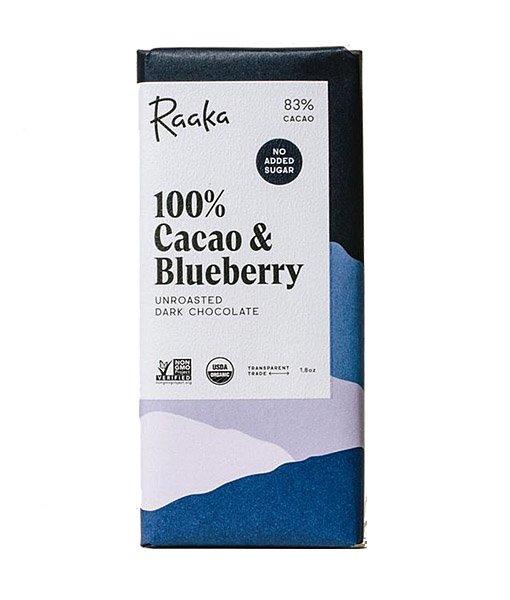 raaka blueberry chocolate without sugar sugar free chocolate with pure berry blueberry vegan nut free gluten free