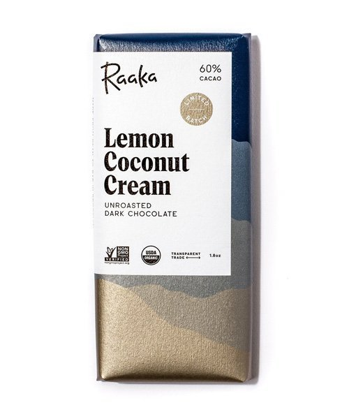 raaka lemon coconut cream chocolate for the summer