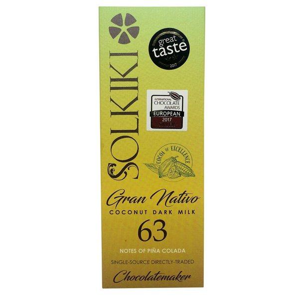 solkiki dark milk chocolate with coconut vegan vegan milk chocolate