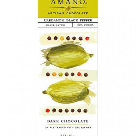 Amano Dark with Cardamom & Black Pepper