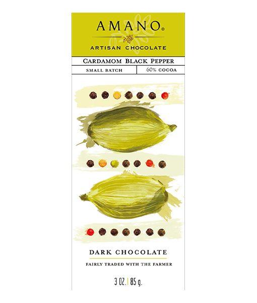 specerijen chocolade van amano kardemom en zwarte peper