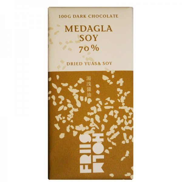 medagla pure chocolate with dried yuasa soy from Friis Holm