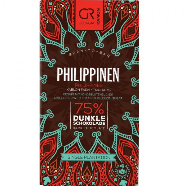 philippines 75% georgia ramon chocolate bar from cacao kablon farm