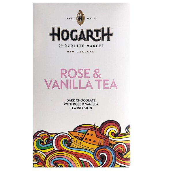 dark chocolate with rose and vanilla tea dilmah