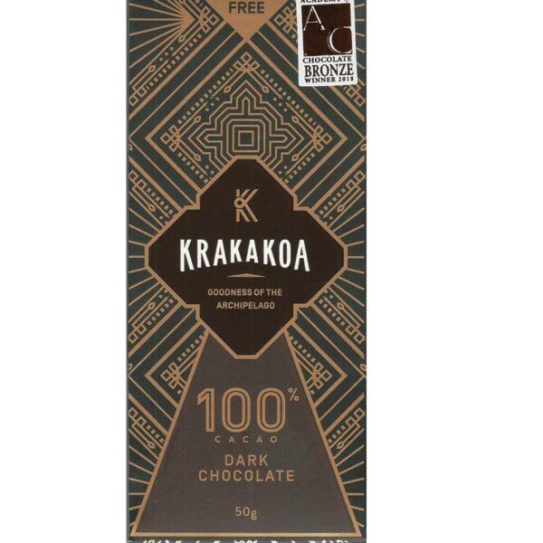 krakakoa 100% suikervrije chocolade gemaakt in indonesie