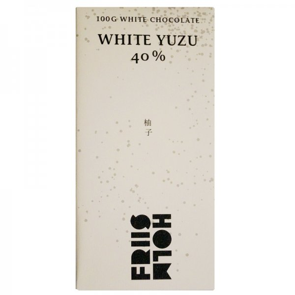 white chocolate with yuzu from friis holm japan sour sweet citrus