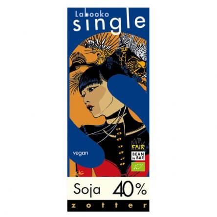 Zotter Single – Vegan Melkchocolade met Biologische Soja 40%