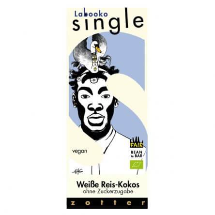 Zotter Single – Vegan Wit – Rijst & Kokos (Zonder toegevoegd suiker)