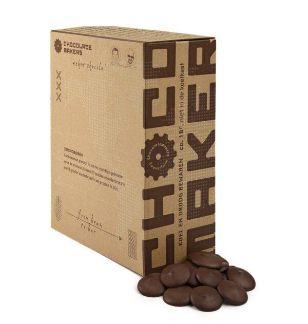 chocolatemakers pure couverture voor de keuken van professional of thuis 70% virunga congo