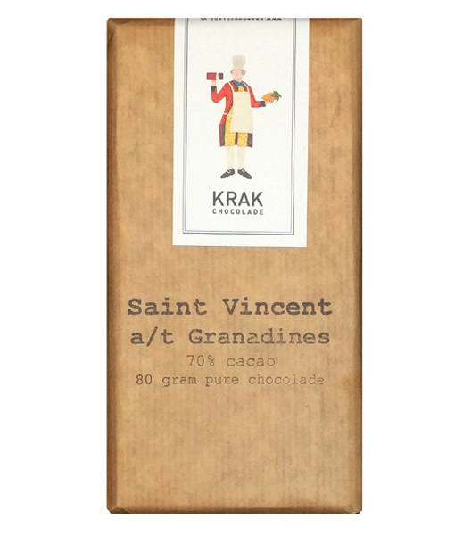 krak st vincent grenadines 70% chocolate bar dutch craft bean to bar