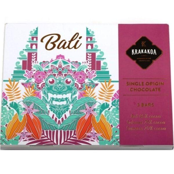 het perfecte cadeau voor de chocoladeliefhebber drie prachtige single origin chocolades van krakakoa uit indonesie