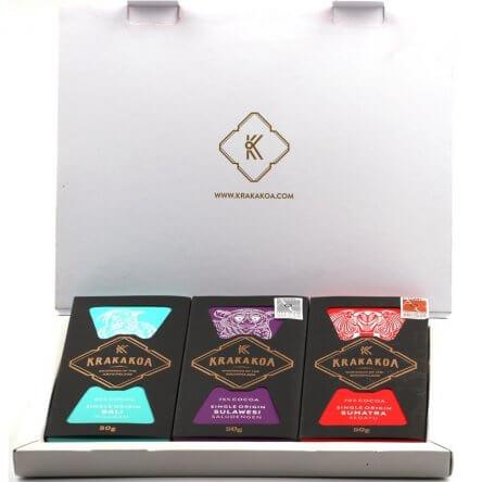 Krakakoa – Giftset – 3 Dark Origin Chocolates
