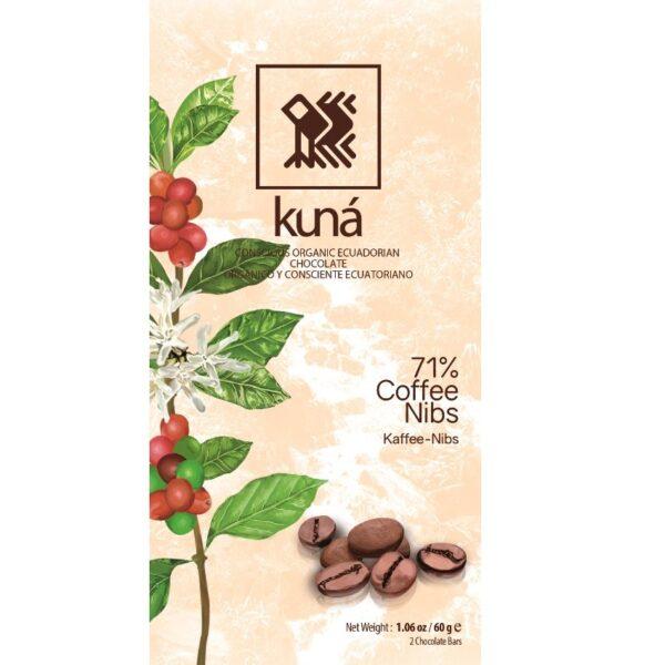 kuna pure chocolade met koffie geheel gemaakt in ecuador duurzaam eerlijk en erg lekker