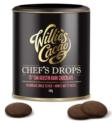 willie's cacao couverture drops colombia 70% pure chocolade drops voor bakken en koken taart dessert thuisbakker
