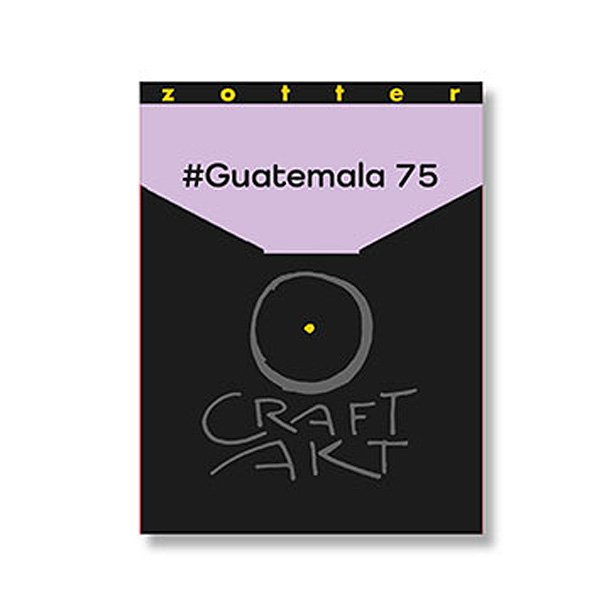 guatemala 75% craft act chocolate from zotter organic and fair from austria bean to bar