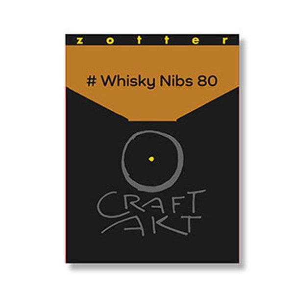 zotter whisky nibs chocolade craft akt 80% dark