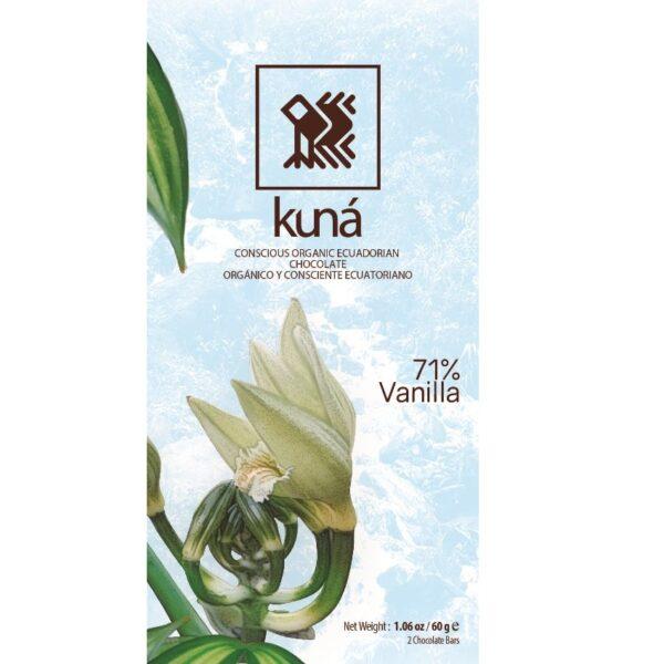 kuna organic dark chocolate with vanilla