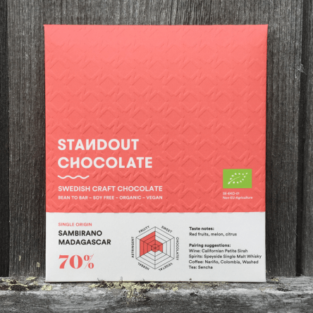 Standout Chocolate – Sambirano Madagaskar 70%