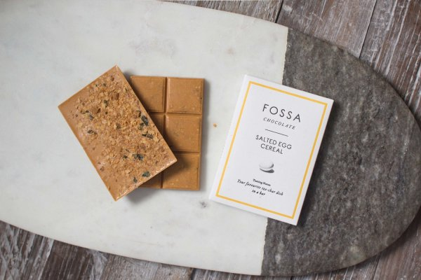 fossa chocolate with salted egg